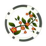 Flower Branch Nature Leaves Plant Poker Chip Card Guard