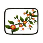 Flower Branch Nature Leaves Plant Netbook Case (Small)