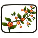 Flower Branch Nature Leaves Plant Netbook Case (Large)