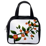 Flower Branch Nature Leaves Plant Classic Handbags (One Side)