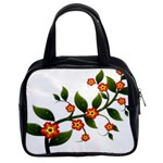 Flower Branch Nature Leaves Plant Classic Handbags (2 Sides)