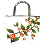 Flower Branch Nature Leaves Plant Bucket Bags