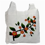 Flower Branch Nature Leaves Plant Recycle Bag (One Side)