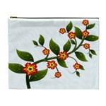Flower Branch Nature Leaves Plant Cosmetic Bag (XL)