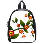 Flower Branch Nature Leaves Plant School Bag (Small)
