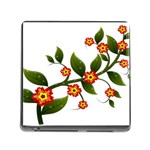 Flower Branch Nature Leaves Plant Memory Card Reader (Square)