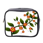 Flower Branch Nature Leaves Plant Mini Toiletries Bag 2-Side