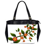 Flower Branch Nature Leaves Plant Office Handbags (2 Sides)