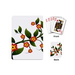 Flower Branch Nature Leaves Plant Playing Cards (Mini)