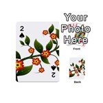 Flower Branch Nature Leaves Plant Playing Cards 54 (Mini)