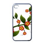 Flower Branch Nature Leaves Plant Apple iPhone 4 Case (Black)