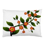 Flower Branch Nature Leaves Plant Pillow Case (Two Sides)