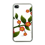 Flower Branch Nature Leaves Plant Apple iPhone 4 Case (Clear)