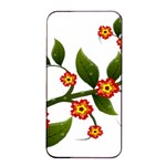 Flower Branch Nature Leaves Plant Apple iPhone 4/4s Seamless Case (Black)
