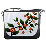 Flower Branch Nature Leaves Plant Messenger Bags