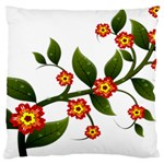 Flower Branch Nature Leaves Plant Large Cushion Case (Two Sides)