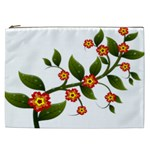 Flower Branch Nature Leaves Plant Cosmetic Bag (XXL)