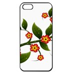 Flower Branch Nature Leaves Plant Apple iPhone 5 Seamless Case (Black)