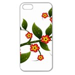 Flower Branch Nature Leaves Plant Apple Seamless iPhone 5 Case (Clear)