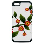 Flower Branch Nature Leaves Plant Apple iPhone 5 Hardshell Case (PC+Silicone)