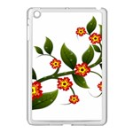 Flower Branch Nature Leaves Plant Apple iPad Mini Case (White)