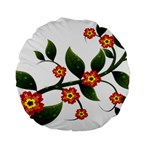 Flower Branch Nature Leaves Plant Standard 15  Premium Round Cushions