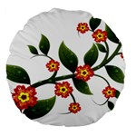 Flower Branch Nature Leaves Plant Large 18  Premium Round Cushions