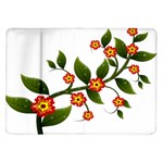 Flower Branch Nature Leaves Plant Samsung Galaxy Tab 10.1  P7500 Flip Case
