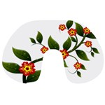 Flower Branch Nature Leaves Plant Travel Neck Pillows