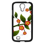 Flower Branch Nature Leaves Plant Samsung Galaxy S4 I9500/ I9505 Case (Black)