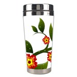 Flower Branch Nature Leaves Plant Stainless Steel Travel Tumblers
