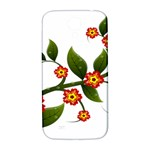 Flower Branch Nature Leaves Plant Samsung Galaxy S4 I9500/I9505  Hardshell Back Case