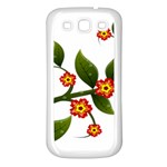 Flower Branch Nature Leaves Plant Samsung Galaxy S3 Back Case (White)