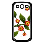 Flower Branch Nature Leaves Plant Samsung Galaxy S3 Back Case (Black)