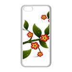 Flower Branch Nature Leaves Plant Apple iPhone 5C Seamless Case (White)