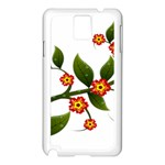 Flower Branch Nature Leaves Plant Samsung Galaxy Note 3 N9005 Case (White)