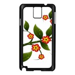 Flower Branch Nature Leaves Plant Samsung Galaxy Note 3 N9005 Case (Black)