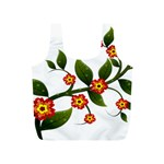 Flower Branch Nature Leaves Plant Full Print Recycle Bags (S)