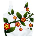 Flower Branch Nature Leaves Plant Full Print Recycle Bags (L)