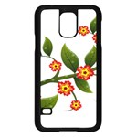 Flower Branch Nature Leaves Plant Samsung Galaxy S5 Case (Black)