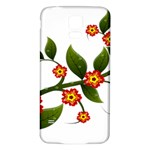 Flower Branch Nature Leaves Plant Samsung Galaxy S5 Back Case (White)