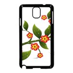 Flower Branch Nature Leaves Plant Samsung Galaxy Note 3 Neo Hardshell Case (Black)