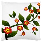 Flower Branch Nature Leaves Plant Large Flano Cushion Case (Two Sides)
