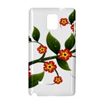 Flower Branch Nature Leaves Plant Samsung Galaxy Note 4 Hardshell Case