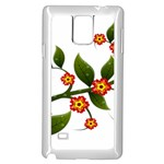 Flower Branch Nature Leaves Plant Samsung Galaxy Note 4 Case (White)