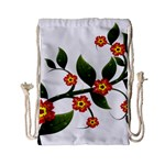 Flower Branch Nature Leaves Plant Drawstring Bag (Small)