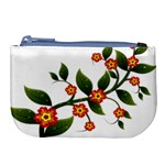 Flower Branch Nature Leaves Plant Large Coin Purse