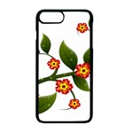 Flower Branch Nature Leaves Plant Apple iPhone 7 Plus Seamless Case (Black)