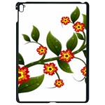 Flower Branch Nature Leaves Plant Apple iPad Pro 9.7   Black Seamless Case