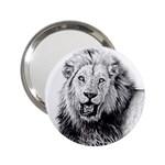Lion Wildlife Art And Illustration Pencil 2.25  Handbag Mirrors